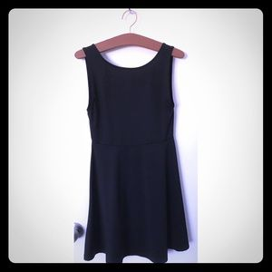 Sleeveless Black H&M skater dress low cut back